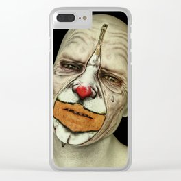 Behind The Mask - The Tears of a Clown Clear iPhone Case