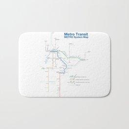Twin Cities METRO System Map Bath Mat