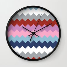 Map Quilt Wall Clock