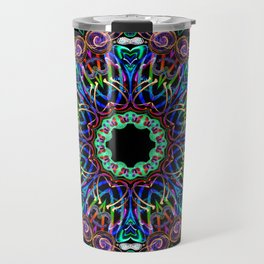 LED Hoop Mandala w/ Fire Travel Mug
