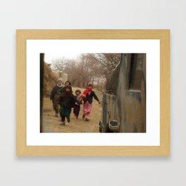 Backward and Forward Framed Art Print
