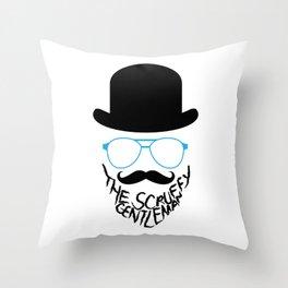 The Scruffy Gentleman Throw Pillow