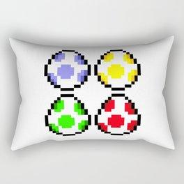 Minimalist Yoshi Eggs Rectangular Pillow