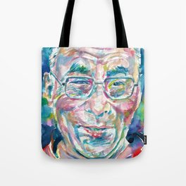 14th DALAI LAMA - TENZIN GYATSO - watercolor portrait.2 Tote Bag