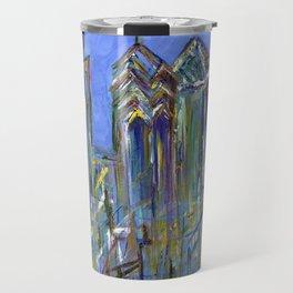 Blue Philadelphia Skyline Travel Mug