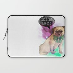 Pugs and kisses Laptop Sleeve