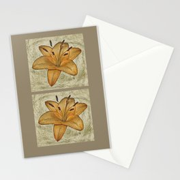 Textured lily Stationery Cards