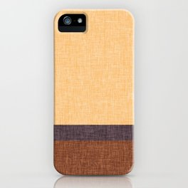 Simple Stripe Abstract with Burlap Pattern iPhone Case