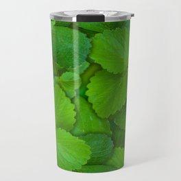 Holy Basil Tulsi Green Mint Leaves Travel Mug