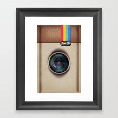Insta Case Cam Framed Art Print