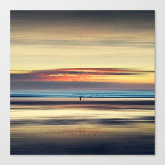 Along Memory Lines - Abstract Seascape Canvas Print