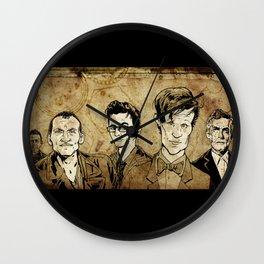 Doctor Who - Nine, Ten, Eleven, Twelve, and Thirteen Wall Clock