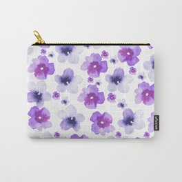 Modern purple lavender watercolor floral pattern Carry-All Pouch