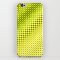 lime green iPhone & iPod Skins featuring Pattern lime green by Christine baessler