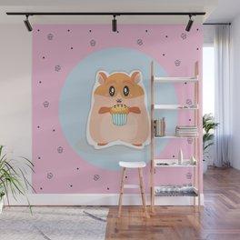 cute hamster Wall Mural