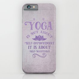 Yoga Philosophy Typography Art iPhone Case
