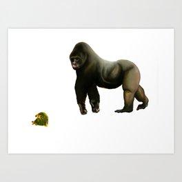 Gorilla & Turtles Art Print
