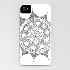 Black and White Circle Doodle iPhone (4, 4s) Slim Case