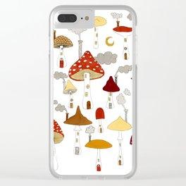 mushroom homes Clear iPhone Case