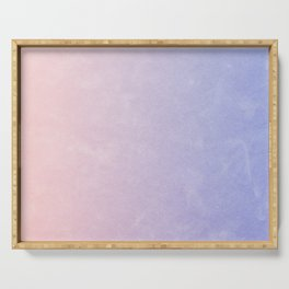 Paper texture  Gradation (Pink & Blue ) Serving Tray