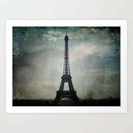 Eiffel Tower in the Storm Art Print