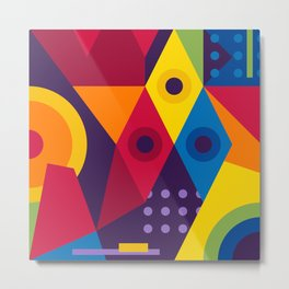 Abstract modern geometric background. Composition 16 Metal Print