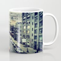 street Mugs featuring street by ALEXIS