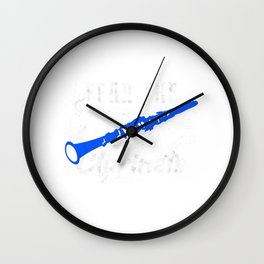 Fear the Clarinets Clarinet Marching Balls Wall Clock