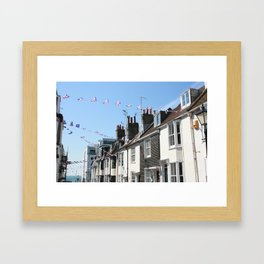 Brighton streets Framed Art Print