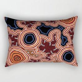 Aboriginal Art Authentic - Pathways Rectangular Pillow
