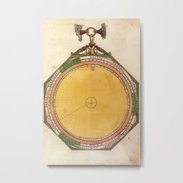 Peter Apian - Astronomicum Caesareum 1540 - Plate 2 Length of Days and Nights over Time Metal Print