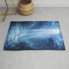 A wolf's tale Rug
