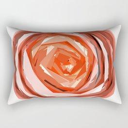Orange Circular Spin Rectangular Pillow