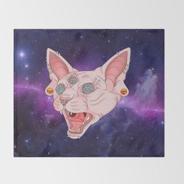 Cats in Space Throw Blanket