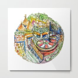 The Orange Show Metal Print