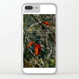Autumns Last Dance with Shakespeare Cards & Posters Clear iPhone Case