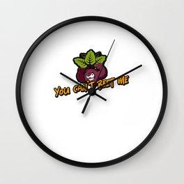 You can't beet me beetroot pun veggie gift idea Wall Clock