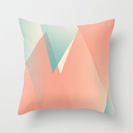 Pastel Peaks Throw Pillow