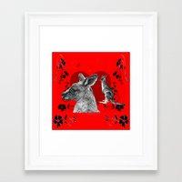 kangaroo Framed Art Prints featuring Kangaroo by SwanniePhotoArt