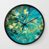 fireworks Wall Clocks featuring Fireworks by Paul Kimble