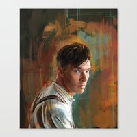 cumberbatch Canvas Prints featuring B. Cumberbatch by Wisesnail