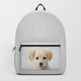Golden Retriever Puppy - Colorful Backpack