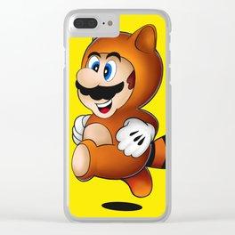 Super Mario Tanooki Suit Clear iPhone Case