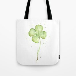 Clover Four Leaf Lucky Charm Green Clovers Tote Bag