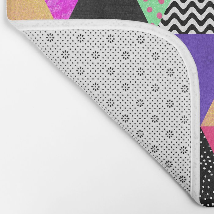 Quirky Triangles Bath Mat