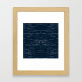 Meteor Stripes - Dark Denim Framed Art Print