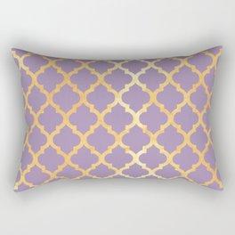 Moroccan Gold & Purple Rectangular Pillow