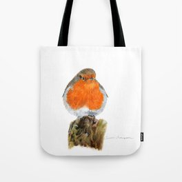 English Robin by Teresa Thompson Tote Bag