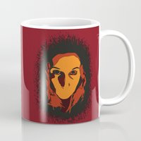 horror Mugs featuring Horror by Square Lemon