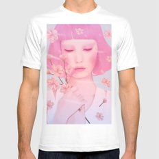 PASTELS White MEDIUM Mens Fitted Tee